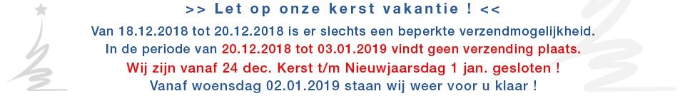 X-MAS Betriebsferien NL
