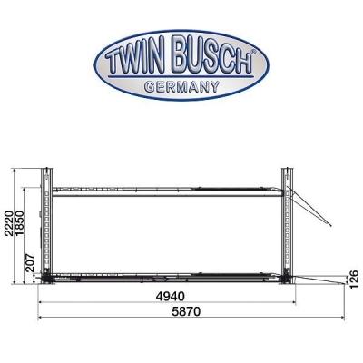 4 Koloms hefbrug 4,5 ton  - TW 445