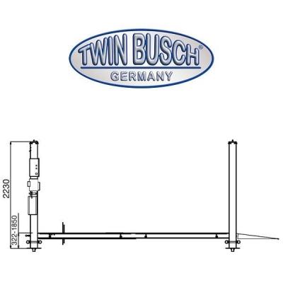 4 koloms dubbele parkeer hefbrug - 3600kg