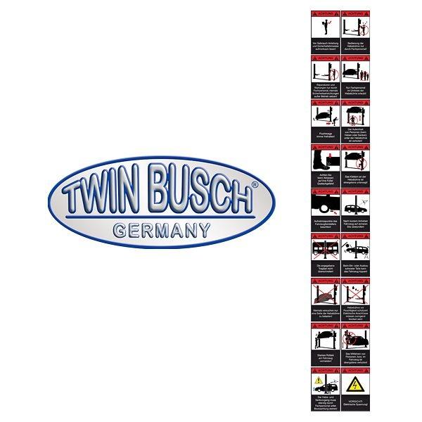 Stickers Waarschuwingen voor 2-kolommenliften